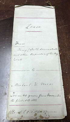 1886 40 Year Land Lease Henry Stabb to Michael Greene St.John's Newfoundland