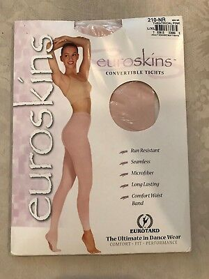 Euroskins Convertible Tights Theatrical Pink Size L/XL Adult NEW
