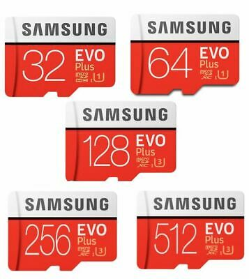 SAMSUNG 32GB 64GB 128GB 256GB Micro SD Micro SDXC Card Class10 TF EVO PLUS CA