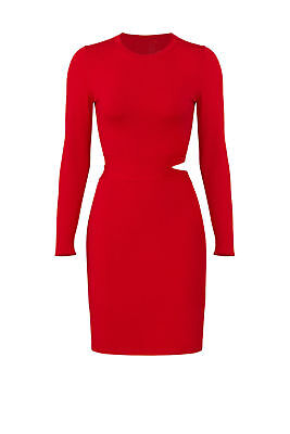 d779f90c41 Elizabeth and James Red Women s Size Medium M Cut Out Sheath Dress  385-   982