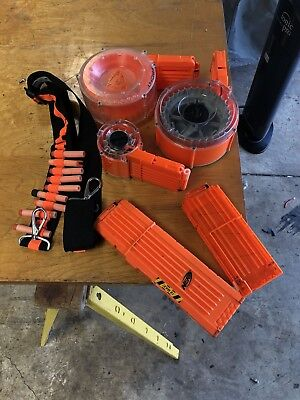 Lot of Nerf-n-strike Drum clips ammo dart magazine raider