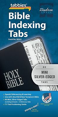 Tabbies Mini Silver-Edged Bible Indexing Tabs Old New Testament 80 Tabs 64 Book