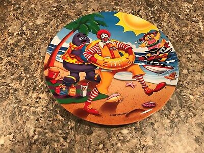 McDonald Plate - Ronald and friends at the Beach - 1998