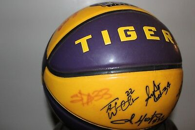 shaquille autograph lsu college basketball