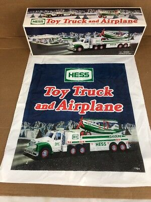 Hess Truck And Airplane With Bag New In Box 2002 Collectible