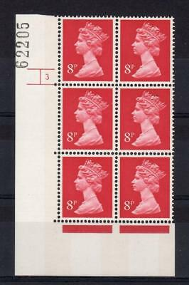 8p 2 BANDS MACHIN UNMOUNTED MINT CYLINDER 3 p26 BLOCK PERF A Cat £30