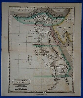 Antique 1838 Hand Colored Map of Ancient EGYPT - AEGYPTUS Butler's Atlas