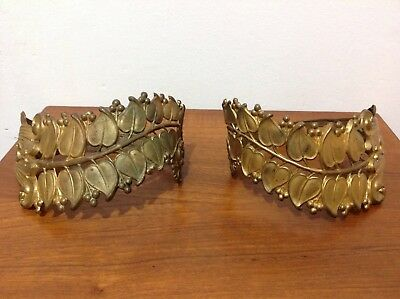 Pair of Unusual Gold Antique Gilt Metal Curtain Tie Backs