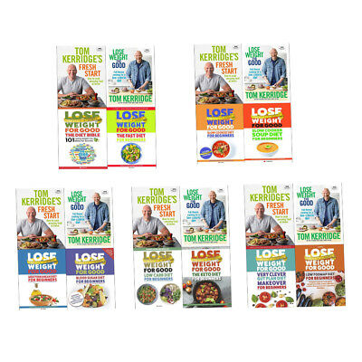 Tom Kerridge's Fresh Start How To Lose Weight For Good Books Fast Diet NEW PACK