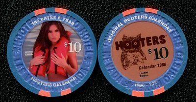 $10 Las Vegas Hooters Calendar Casino Chip