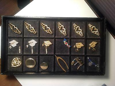 18 Pieces Costume Jewelry Lot: Millennial & 2000 Graduate Teacher Avon Misc. Pin
