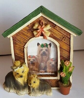 YORKY / YORKSHIRE TERRIER Picture Frame Dog House Used