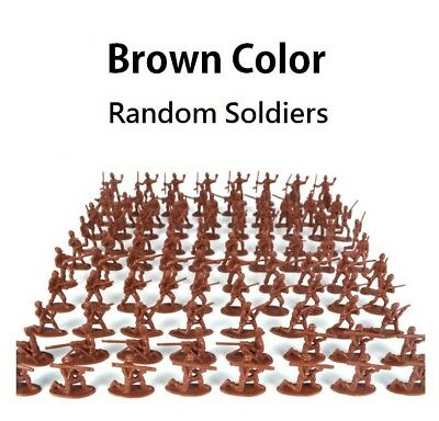 BROWN RANDOM (1 Piece Only) Soldier Army Military Action Figure Toy 12 types