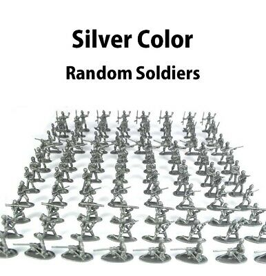 SILVER RANDOM (1 Piece Only) Soldier Army Military Action Figure Toy 12 types