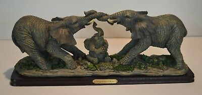 Elephants with baby Endangered Species Collection Figurines