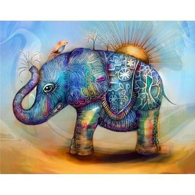 5D DIY Full Drill Square Diamond Painting Elephant Cross Stitch Embroidery #Cu3