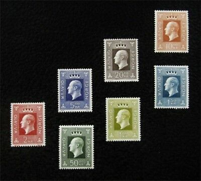 nystamps Norway Stamp # 537 - 543 Mint OG NH $44