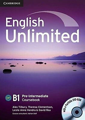 English Unlimited Pre-intermediate Coursebook with E-Portfolio, , Very Good cond