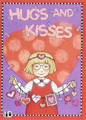 Mary Engelbreit-Ann Estelle HUGS AND KISSES-Valentine's Day Greeting Card-NEW!