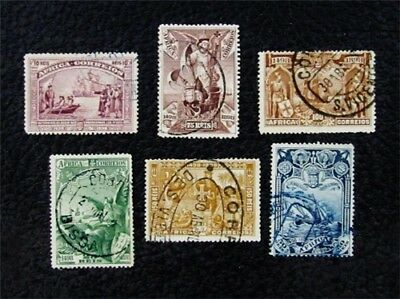 nystamps Portugal Africa Stamp # 3 - 8 Used $30