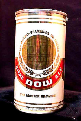 Dow Biere Ale - Mid 1960's 12Oz Aluminum Fan Tab Can - Montreal Quebec Toronto
