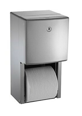 ASI 0030 Surface Mounted Twin Hide-A-Roll Toilet Tissue Dispenser