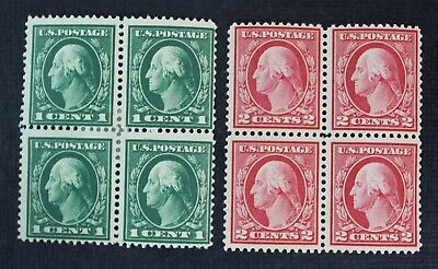 CKStamps: US Stamps Collection Scott#405 Block Mint H OG, #406 Mint NH OG