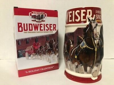 Collectible Budweiser 2018 Holiday Stein NEW IN BOX Bud Christmas