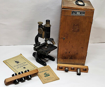Antique Bausch & Lomb Spencer lens research microscope