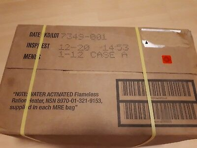 US MRE Meal, MRE Case  Nr. 1-12 (EPA), Insp.Test 12/2020,