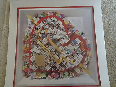 Southwest Airlines 25 Years of Luv 1971- 1996 Matted poster Print signed Herb