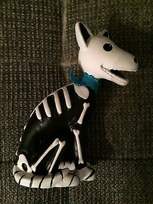 Used Day Of the Dead Dog Figurine.