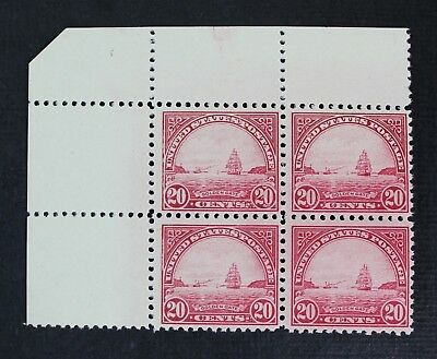 CKStamps: US Stamps Collection Scott#567 20c Block Mint NH OG Tiny Gum Skip