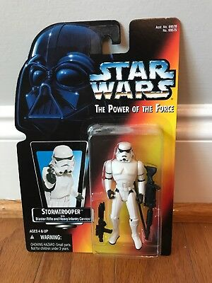 Kenner Star Wars Power of the force Stormtrooper POTF Red Card. 1995 New In Box