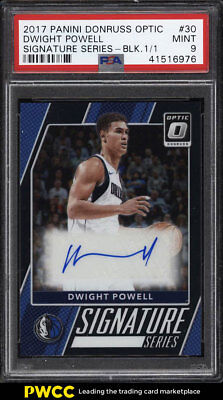 2017 Donruss Optic Signature Black Dwight Powell AUTO 1/1 #30 PSA 9 MINT (PWCC)