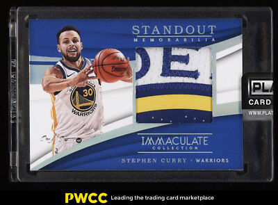 2017 Immaculate Collection Standout Platinum Stephen Curry LOGO PATCH 1/1 PWCC