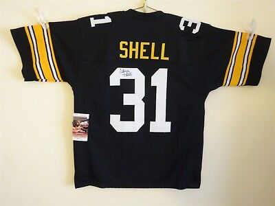 4cab11626f5 Donnie Shell Signed Auto Pittsburgh Steelers Black Jersey Jsa Autographed