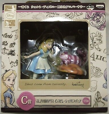 Alice in Wonderland : Alice & Cheshire Cat inspirational figure  Banpresto 2012