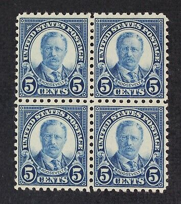 CKStamps: US Stamps Collection Scott#586 5c Block Mint NH OG