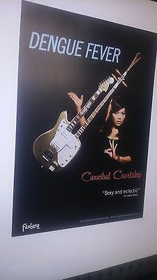 POSTER by DENGUE FEVER cannibal courtship Rare Promo for the bands show album cd