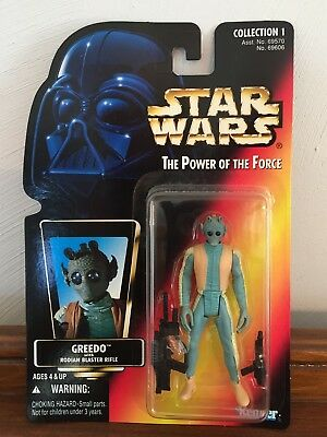 1995  Kenner  STAR  WARS  POTF  Greedo  Red Card  Action Figure  MOC
