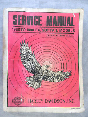Harley Davidson 1985 to 1990 FX/SOFTAIL Models Service Manual  99482-90