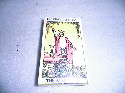 Vintage Rider WAITE Tarot Deck WR78 THE MAGICIAN 78 Cards - Original 1971