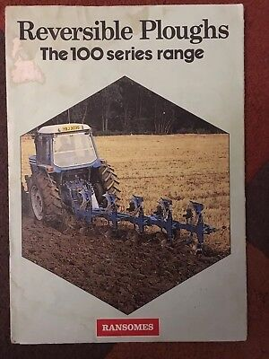 1979 Ransomes 100 series reversible plough range Ford tractor brochure