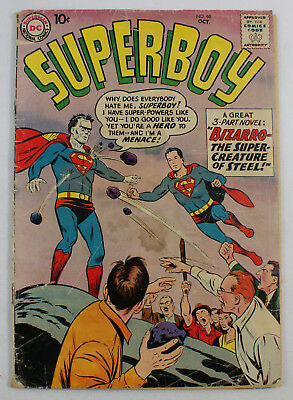 Superboy (1949) # 68 - origin and 1st Bizarro, DC comics