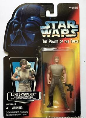 Star Wars POTF Red Card ~ Dagobah ~ LUKE SKYWALKER ~ 1995 Figure ~ Unopened