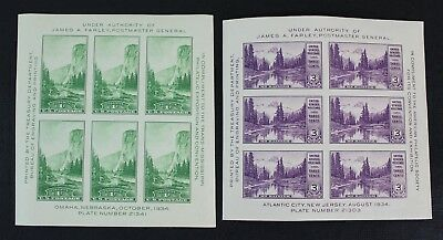 CKStamps: US Stamps Collection Scott#750 751 1c 3c Mint NH OG