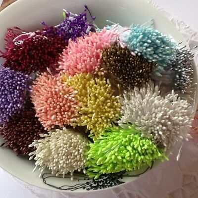 Stamens 150 Double Head Pearl for hand made flowers Foamiran or Paper small