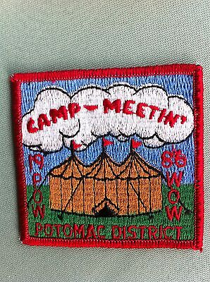 ROYAL RANGERS, Collectible patch, 1986 *Potomac District, Camp Meetin'-Pow Wow