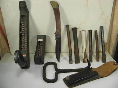 Tools,hay Hook & Craftsman Hand Tool's,,and Forged & Chissels,knife Lot.